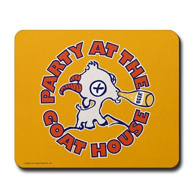 Party at the Goat House Mousepad