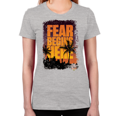 FTWD Fear Begins Here Women's Fitted T-Shirt