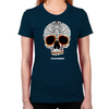 Day of the Dead Skull Women's Fitted T-Shirt