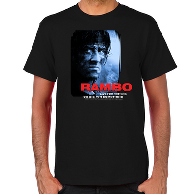 Rambo Die for Something T-Shirt