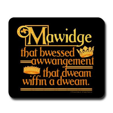 Mawidge Speech Mousepad