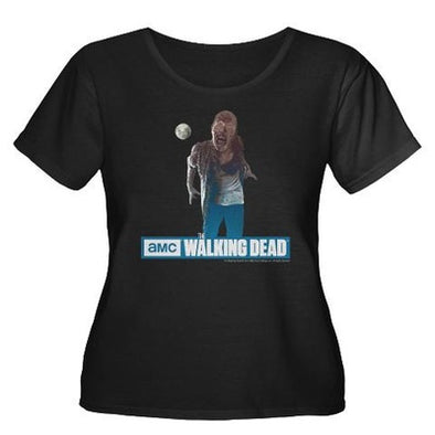 Walking Dead Full Moon Zombie Women's Plus Size T-Shirt
