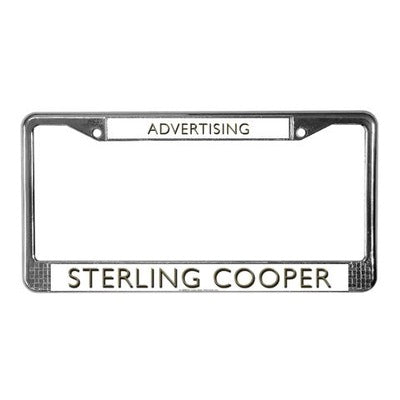Mad Men Sterling Coooper License Plate Frame