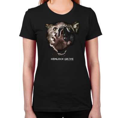 Inside Out Werewolf Women's Fitted T-Shirt