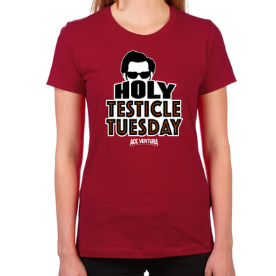 Holy Testicle Tuesday Women's Fitted T-Shirt