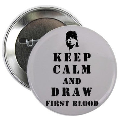 "Keep Calm Rambo 2.25"" Button"