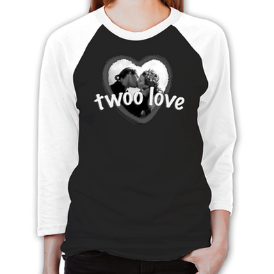 Twoo Love Unisex Baseball T-Shirt