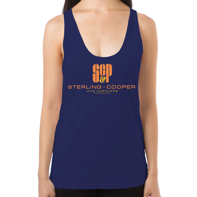 SCP Mad Men Logo Women's Racerback Tank