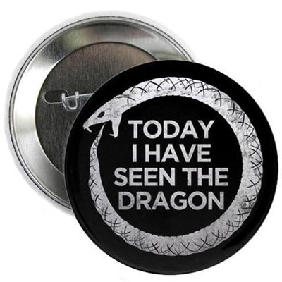 "Ouroboros Dragon 2.25"" Button"