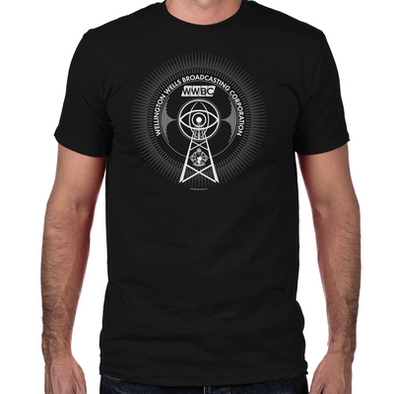 Wellington Wells Broadcasting Men's Fitted-T-Shirt