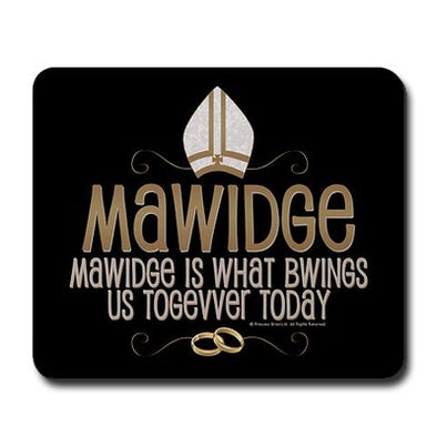 Mawidge Wedding Mousepad