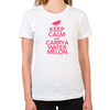 Keep Calm and Carry a Watermelon Women's Fitted T-Shirt