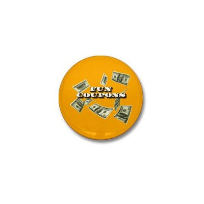 Wolf of Wall Street Fun Coupons Mini Button