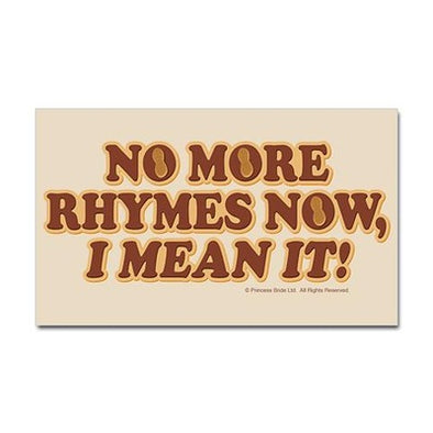 No More Rhymes Sticker