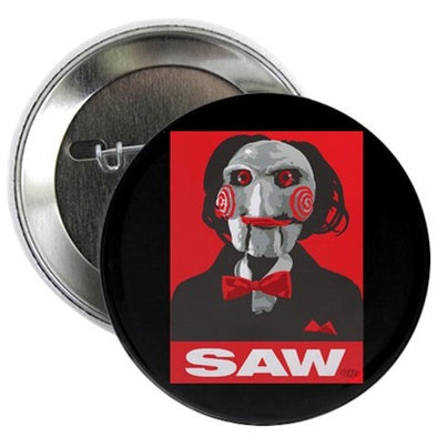 Saw Clown Button