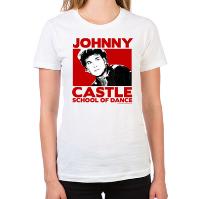 Dirty Dancing Johnny Castle  Women's Fitted T-Shirt