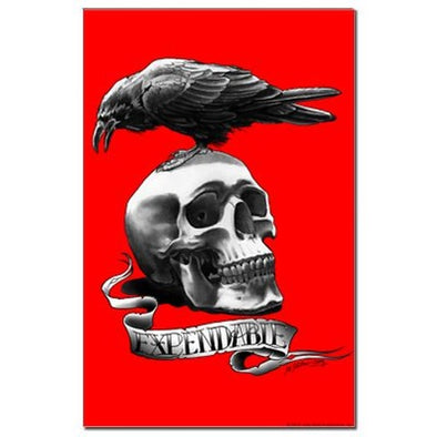 Skull Tattoo Mini Poster Print