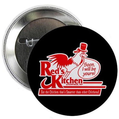 "Red's Kitchen 2.25"" Button"