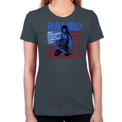 Rambo No Fear Women's Fitted T-Shirt