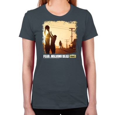 FTWD Pick Up Basketball Women's Fitted T-Shirt