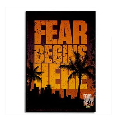 Fear Begins Here Magnet