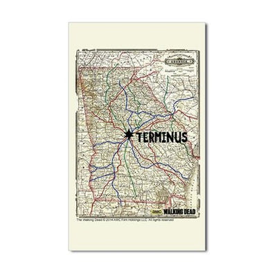 Terminus Map Sticker
