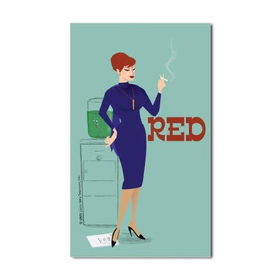 Mad Men Red Sticker