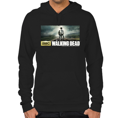 Carl and Rick Grimes Don't Look Back Hoodie