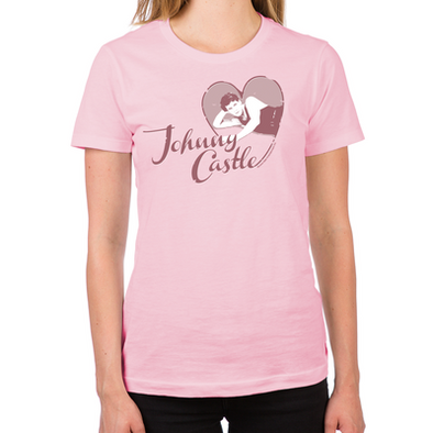 Love Johnny Castle Women's Fitted T-Shirt