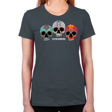 Three Skulls Women's Fitted T-Shirt