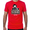 Holy Testicle Tuesday Fitted T-Shirt