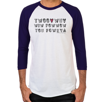 Twoo Wuv Men's Baseball T-Shirt