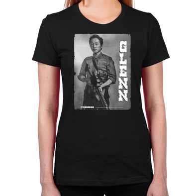 Glenn Silver Portrait Women's Fitted T-Shirt