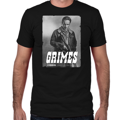Rick Grimes Silver Portrait Fitted T-Shirt