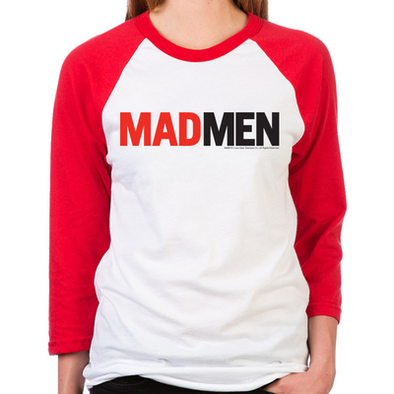 Mad Men Logo Women's Baseball T-Shirt