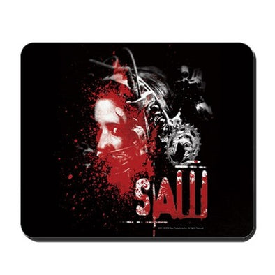 Saw Bear Trap Mousepad