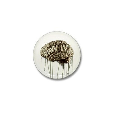 Saw Brain Mini Button