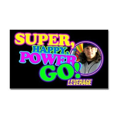 Super Happy Power Go Sticker