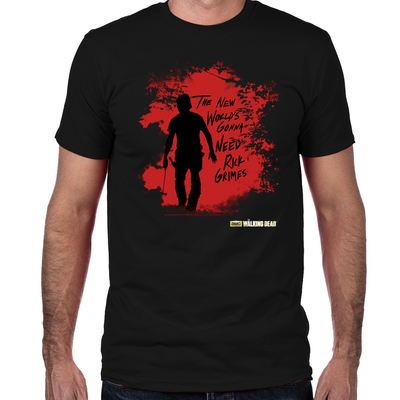 Rick Grimes World Fitted T-Shirt