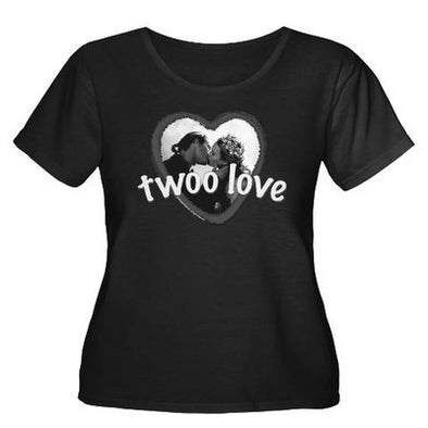 Twoo Love Women's Plus Size Scoop Neck T-Shirt