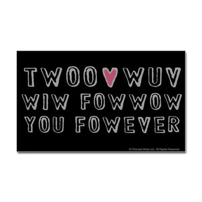 Twoo Wuv Fowever Sticker
