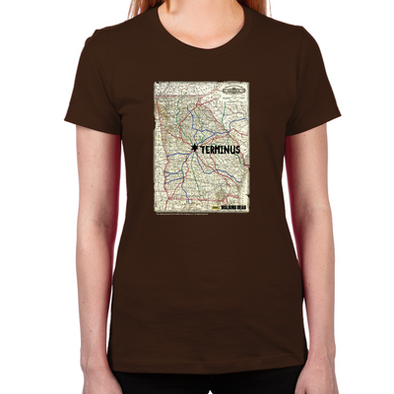 Terminus Map Women's Fitted T-Shirt