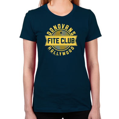 Donovan's Hollywood Fite Club Women's Fitted T-Shirt