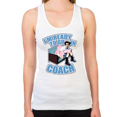 Ace Ventura Ready to Go In Coach Women's Racerback Tank