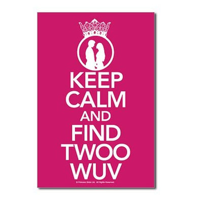 Keep Calm Find Twoo Wuv Postcards (Package of 8)