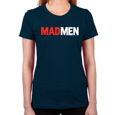 Mad Men Logo Women's Fitted T-Shirt