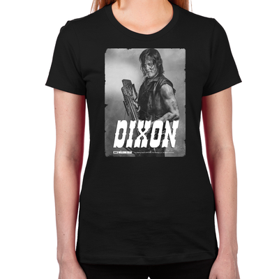 Daryl Silver Portrait Women's Fitted T-Shirt