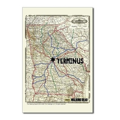 Terminus Map Postcards (Package of 8)