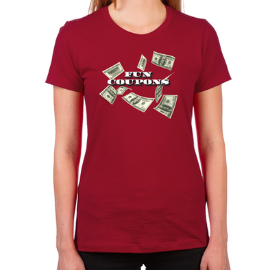 Wolf of Wall Street Fun Coupons Women's Fitted T-Shirt