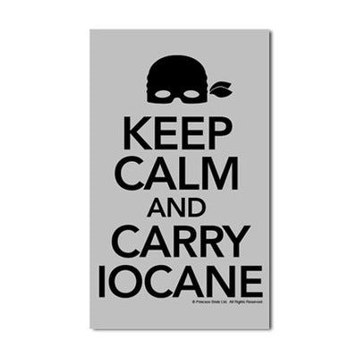 Keep Calm and Carry Iocane Sticker